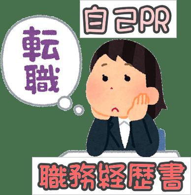 ・自己PR・職務経歴書の書き方と例文 イメージ
